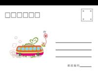 汽车卡通-全景明信片(横款)套装