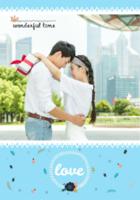 wonderful time 我们幸福的回忆love-B2单面竖款印刷海报