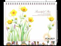 最美的花季(文艺小清新)-8寸双面印刷台历
