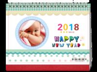 2018卡通、儿童-8寸双面印刷跨年台历