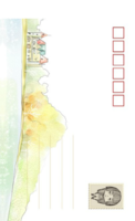 003-等边留白明信片(竖款)套装