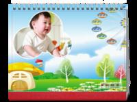 卡通台历,宝宝的最爱,搭配上宝贝的小样,令你爱不释手-8寸单面印刷台历