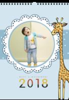 宝贝与长颈鹿-baby-小清新-A3双月挂历