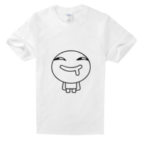 我就笑笑不说话-男舒适白色T恤
