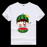 可爱吃瓜群众-男款母版-男款莫代尔T恤