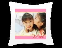 吉祥如意幸福抱枕(亲情、友情、爱情、校园……)-短皮绒面双面抱枕