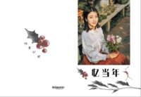 青春七部曲之暮雪钟情#-高档纪念册24p