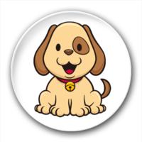 可爱的小狗-7.5个性徽章