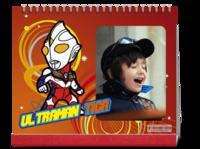 奥特曼咸蛋凹凸曼超人卡通动漫亲子宝宝红色喜庆-10寸双面印刷台历
