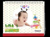 幸福宝贝-10寸横款双月单面台历(7页)