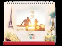 LOVE 我们的故事 小清新系列 记录我们的每一天-10寸照片台历