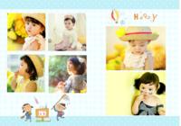 可爱儿童成长纪念册-我们的纪念册30p