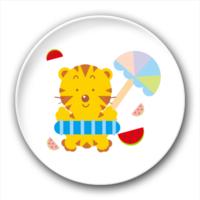 可爱的小老虎-7.5个性徽章