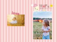 粉色条纹温馨浪漫可爱-A3硬壳蝴蝶装照片书24P