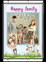 快乐全家福-幸福的一家人-全家福(照片可换、大容量)-A4杂志册(32P)