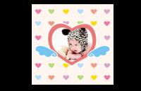 心爱小宝贝(可爱、快乐)文字可编辑-8*8印刷单面水晶照片书