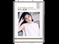 照片的故事-致青春(封面及内页图片可替换)-A4时尚杂志册(26p)
