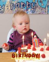 生日快乐宝贝(装饰可移动、图片可换)-30寸竖式海报