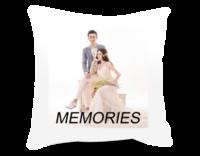 简约大气英文-美好回忆-爱情、写真、旅行、亲子(装饰可移动、图片可换)-短皮绒面双面抱枕