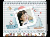 小水手(素年地中海小海军风)-8寸单面印刷台历