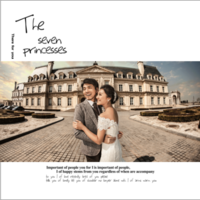 浪漫婚礼记 3王子的婚礼(影楼品质专享)65-8x8双面水晶银盐照片书30p