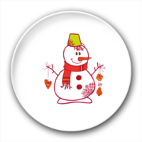 圣诞雪人-4.4个性徽章