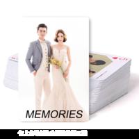 简约大气英文-美好回忆-爱情、写真、旅行、亲子(装饰可移动、图片可换)-双面定制扑克牌