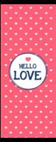hello love 圆满的爱情 清新唯美心(多色款)823-定制单面书签