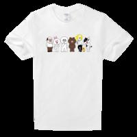 LINE高档白色T恤