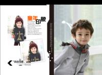 童年印象-快乐宝贝成长记录册-硬壳对裱照片书30p