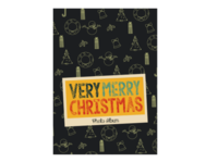 Merry Christmas 圣诞节快乐(节日礼物)酷黑版 欧美经典原创高档精品自由设计-A4杂志册(24p)  亮膜