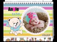 天使之爱 可爱萌娃美美哒 宝贝成长记-8寸单面印刷台历