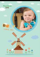 亲子-男女通用-快乐宝宝-B2单月竖款挂历