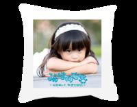 萌娃闯世界(图片可换、装饰可移动)-短皮绒面双面抱枕