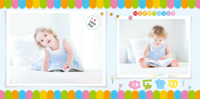 快乐宝贝的彩色童年 美好记忆(彩色时尚清新大容量)9 9191140-8x8PU照片书NewLife