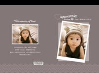 可爱宝贝的美丽童年 咖色系 简约时尚大气 宝宝成长记录-硬壳精装照片书22p