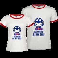 拽猫-撞色情侣装纯棉T恤