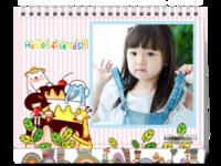 卡通-儿童-可爱-通用-照片可换-8寸单面印刷台历
