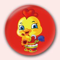 金鸡送福-4.4个性徽章