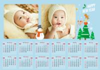 圣诞节快乐-A3章鱼贴横款年历