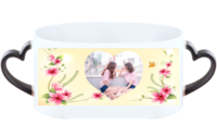 蝶恋花情缘-情侣心形把变色杯