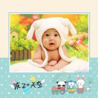 孩子的天空 儿童 幼儿 清新可爱 内页精美 (字图可替换)-8x8双面水晶印刷照片书30p