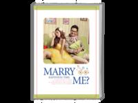 MARRY ME婚纱照相册结婚周年纪念相册(封面封底照片可替换)-A4时尚杂志册(24p)