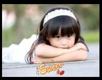 甜甜的你(图片可换、装饰可移动)-32寸木版画横款