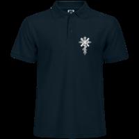 权力与救赎黑色十字架-男款纯色POLO衫