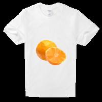 色彩风橘子高档白色T恤