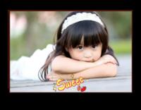 甜甜的你(图片可换、装饰可移动)-12X8寸横式木版画
