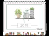 精致2019#-8寸单面印刷台历