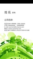 绿色简约大气商务名片-文字可修改移动删除(可加logo、二维码、上传图片拖到名片上即可)-高档双面定制竖版名片