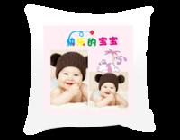 快乐的宝宝 儿童萌宝精彩瞬间美丽回忆-短皮绒面双面抱枕